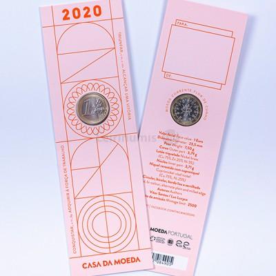 Moeda 1 euro Comemoração Portugal 2020