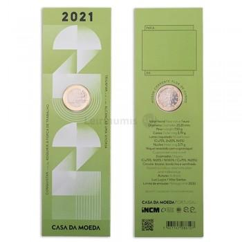 Moeda 1€ da Comemoração Portugal 2021