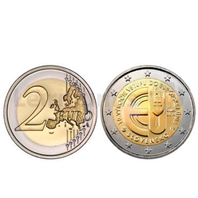 2 Euros 10 Anos da UE Eslováquia 2014