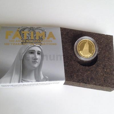 Moeda 2,5€ 100 Anos das Aparições de Fátima Ouro Proof