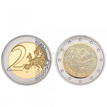 Moeda 2 Euro Os Povos Fino-Ugrius Estónia 2021