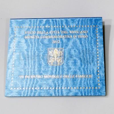 Moeda 2 Euros VII Encontro Mundial da Familia Vaticano 2012