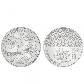 Moeda 5€ Arte da Laca Portugal 2021 Cuproniquel