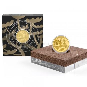 Moeda 5€ Arte da Laca Portugal 2021 Ouro Proof