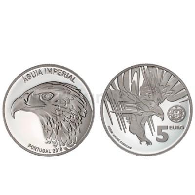 Moeda 5€ Comemorativa Águia Imperial 2018 Prata Proof