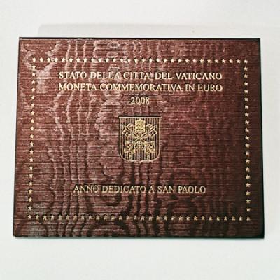 Moeda 2 Euros Ano Dedicado a S Paulo Vaticano 2008