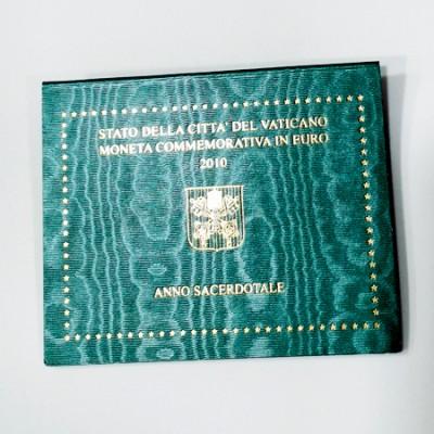 Moeda 2 Euros Ano Sacerdotal Vaticano 2010