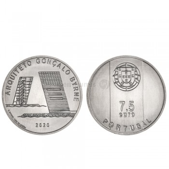 Moeda 7,5€ Comemorativa Arquitº Gonçalo Byrne Portugal 2020 cuproniquel