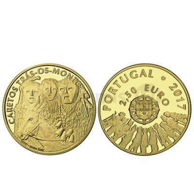 Moeda 2,5€ Os Caretos de Trás-Os-Montes Portugal 2017 Ouro Proof
