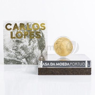 Moeda 7,5€  Carlos Lopes Portugal 2017 Ouro Proof