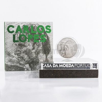 Moeda 7,5€  Carlos Lopes Portugal 2017 Prata Proof