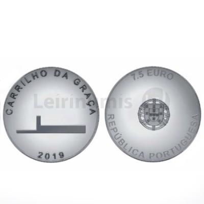 Moeda Comemorativa Carrilho da Graça Prata Portugal 2019