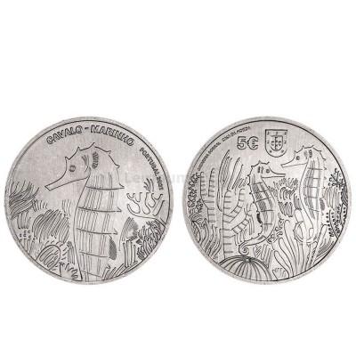 Moeda 5€ Cavalo-Marinho Portugal 2021 Cuproníquel