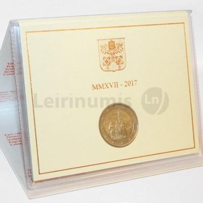 Moeda 2 Euros Centenário das Aparições de Fátima Vaticano 2017