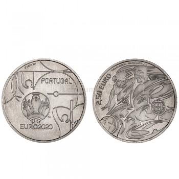 Moeda 2,5€ Comemorativa Euro 2020 Portugal cuproniquel