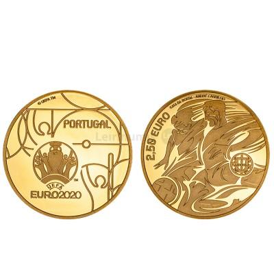 Moeda 2,5€ Comemorativa Euro 2020 Portugal ouro proof