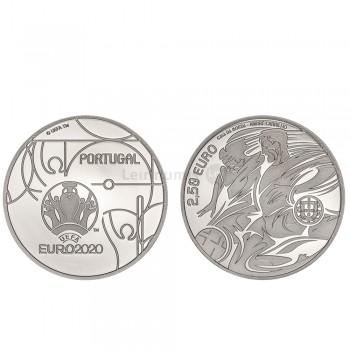 Moeda 2,5€ Comemorativa Euro 2020 Portugal prata proof