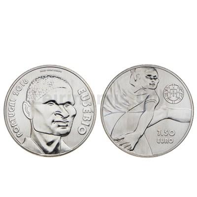 Moeda 7,5 Euro Comemorativa Eusébio 2016 prata 500