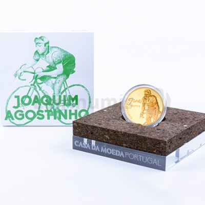 Moeda 7,5€ Joaquim Agostinho Ouro Proof Portugal 2019