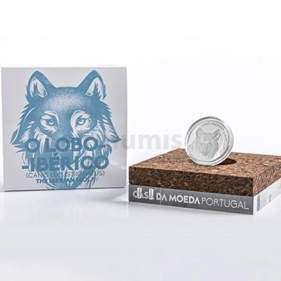 Moeda 5€ Lobo Ibérico Prata Proof Portugal 2019