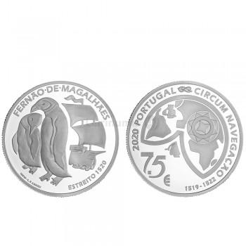 Moeda 7,5€ Comemorativa O Estreito Portugal 2020 prata proof