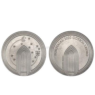 Moeda 5€ Comemorativa O Gótico Portugal 2020 cuproniquel