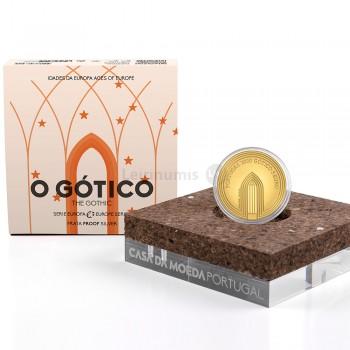 Moeda 5€ Comemorativa O Gótico Portugal 2020 Ouro Proof