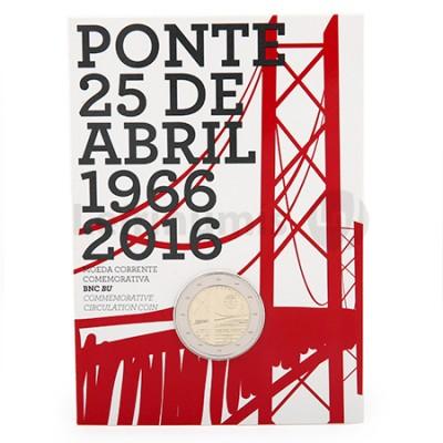 Moeda 2 Euro Comemorativa Ponte 25 Abril Portugal 2016 BNC