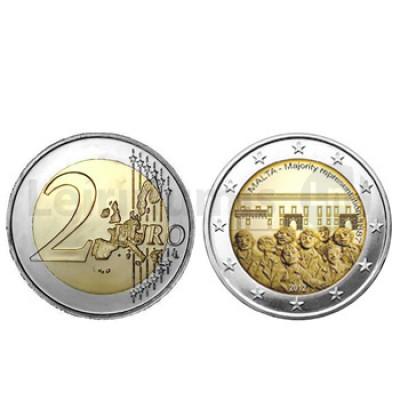 2 Euros Moeda Alusiva à Representação da Maioria Malta 2012