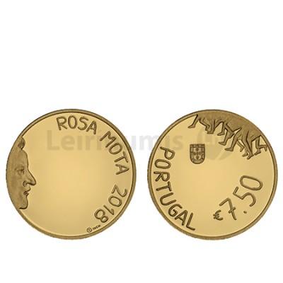 Moeda 7,5€ Rosa Mota 2018 Ouro Proof