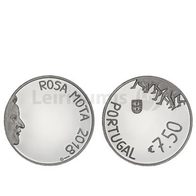Moeda 7,5€  Rosa Mota 2018 Prata Proof