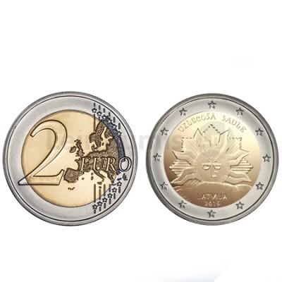 Moeda 2 Euros Sol Nascente Letónia 2019