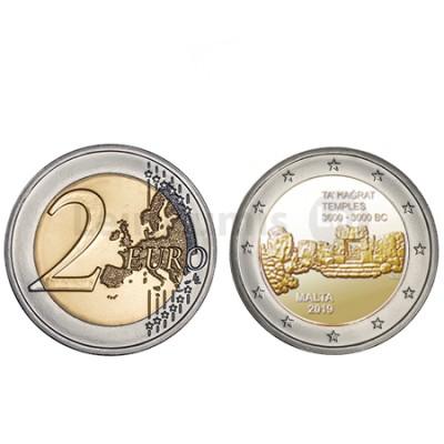 Moeda 2 Euros Ta Hagrat Malta 2019