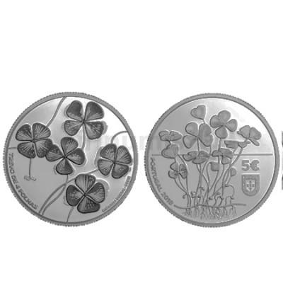 Moeda 5€ Comemorativa Trevo de Quatro Folhas 2018