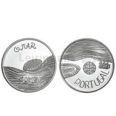 Moeda 5€ O Mar  Prata Proof Portugal 2019