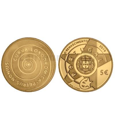 Moeda 5€ O Renascimento Ouro Proof Portugal 2019