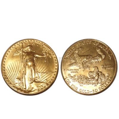 Moeda Ouro 50 Dólares Eagle Libeerty USA