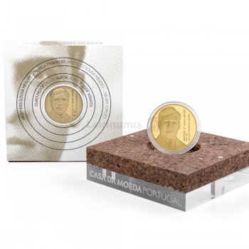 Moeda 5€ Aristides de Sousa Mendes Portugal 2021 Ouro Proof