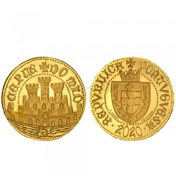 Moeda Ouro Meio Escudo de Ceuta proof Portugal 2020