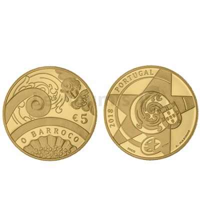 Moeda 5€ O Barroco 2018 Ouro Proof (Brevemente)