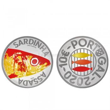 Moeda Sardinha Sabores de Portugal Prata Proof Portugal 2020