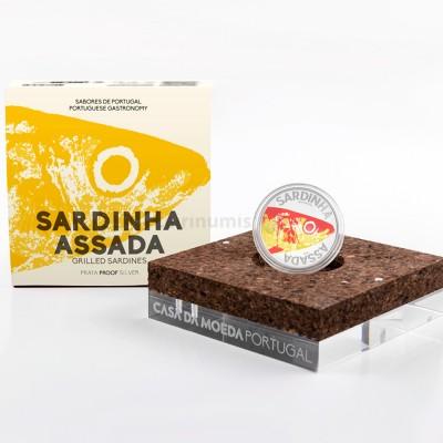 Moeda 10€ Sardinha Sabores de Portugal Prata Proof Portugal 2020