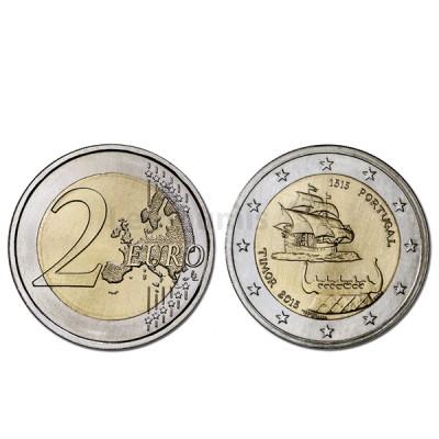 Moeda 2 Euros 500 Anos 1º Contacto com Timor - Portugal 2015 Normal