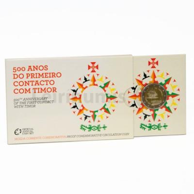 Moeda 2 Euros 500 Anos 1º Contacto com Timor - Portugal 2015 Proof