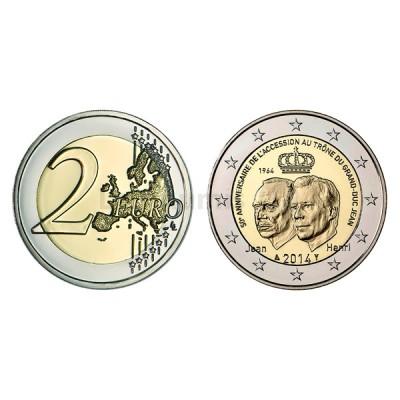 2 Euros 50 Aniversário Ascenção ao Trono Luxemburgo 2014