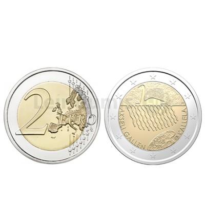 Moeda 2 Euros Akseli Galem Finlândia 2015