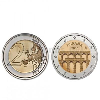 Moeda 2 Euro Espanha 2016  Aqueduto de Segóvia