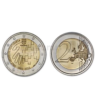 Moeda 2 Euros Cruz Vermelha - Portugal 2015 Normal