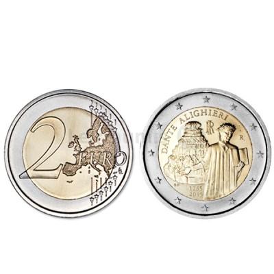 Moeda 2 Euros Dante - Itália 2015