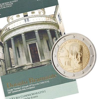 Moeda 2 Euros Donato Bramante - San Marino 2014